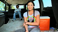 Kimora's day out leads to a ride on the Bang Bus, but will she get naked?