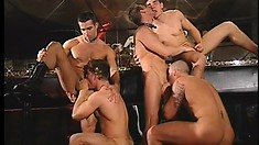 Many handsome men fuck each other after hooking up at a gay club