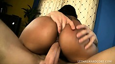 Elena Heiress, a black babe with a perfect body, enjoys a hot massage and a few extras