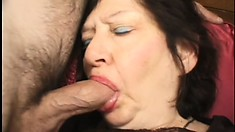 A couple of younger womanizers get carnal with an insatiable granny