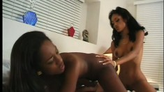Crystal Knight and Naomi are two hot ebony lesbians who just love pussy