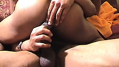 Horny black dude gets his butt hole drilled rough by his gay lover